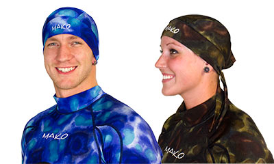 head wrap in blue camo or green camo