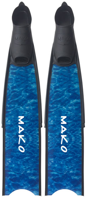 pro fiberglass fins in Black, True Reef Camo and True Blue Camo