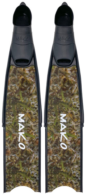 pro fiberglass fins available in Black, True Reef Camo and True Blue Camo