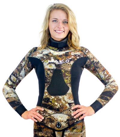 Womens 3D Reef Camo Wetsuit Chest Loading Pad