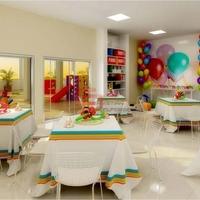 Festa Infantil em Salão de Festas Convencional - O famoso salão de festas do prédio e/ou condomínio.