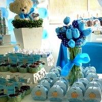Chá de Bebê Ursinho Azul.