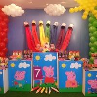 Festa Peppa Pig Pintando o 7