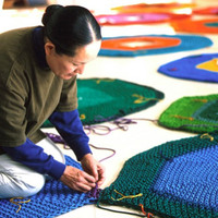 Artista Japonesa cria Playground feito em Crochê...