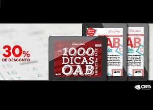 30% de desconto nos livros da 1ª fase da OAB!