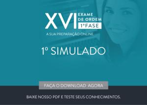 Primeiro simulado para OAB XVI já está no ar!