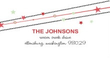 Holiday Stars (Set) Address Label