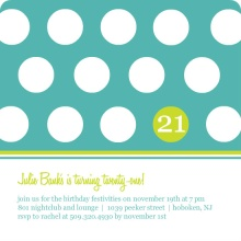 Polka Dot Invitation
