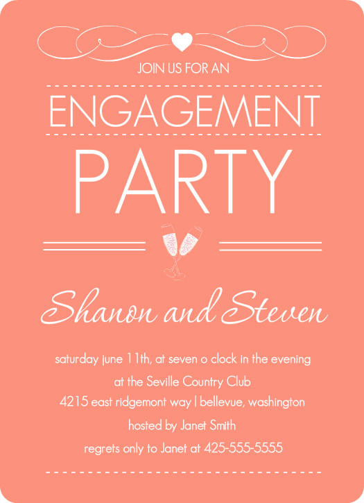 Invitation designs for engagement party gallery for Invitation for engagement party