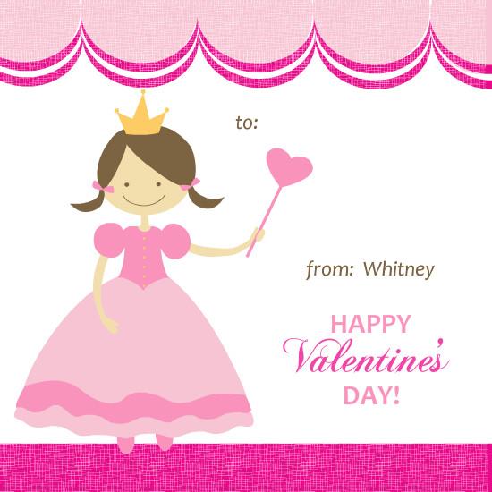 Valentines Day Cards - Pink Princess Valentine's Card