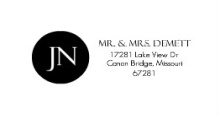 Black and White Monogram (Set) Address Label