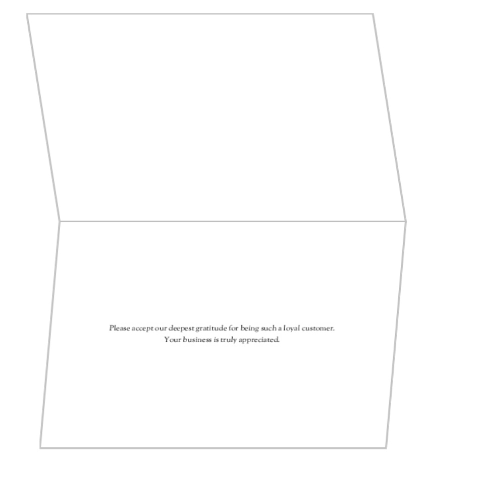 Elegant Business Thank You Card Template