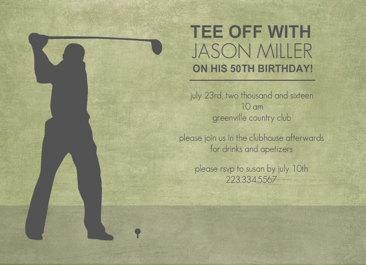 Invite Golf Invitation Templates