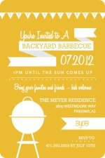 Orange and White Modern BBQ Party Invitation