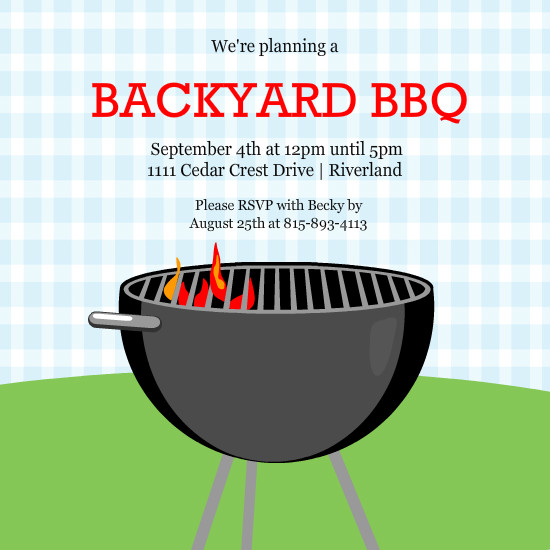 barbecue invitation templates free
