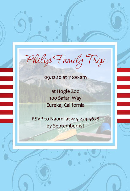 trips and getaway invitations