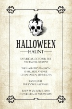 Haunting Skull (Set) Halloween Party Invitation