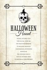 Haunting Skull  Halloween Party Invitation
