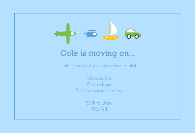 Farewell Party Invitations - Moving On Farewell Party ...