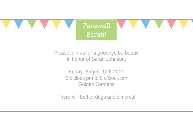 ... Goodbye To Coworker Coworker Farewell ... Farewell Invitation Wording