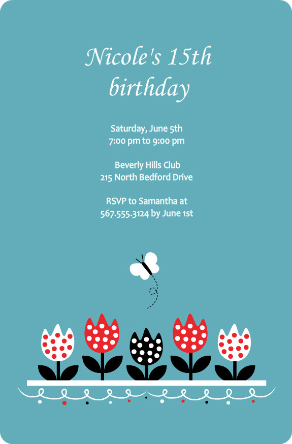 15Th Birthday Invitations could be nice ideas for your invitation template