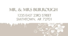 Simple Gray and White (Set) Address Labels