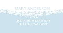 Blue Formal (Set) Address Label