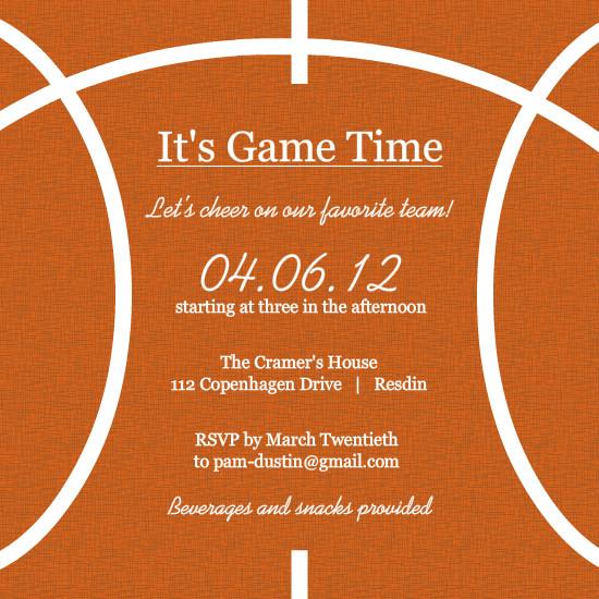basketball ticket invitation template – Basketball Party Invitations