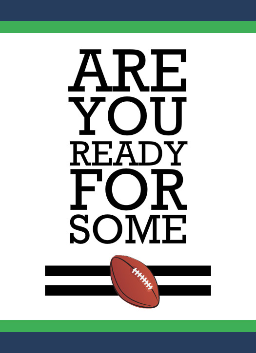Football Invitations - Are You Ready For Some Football Invitation