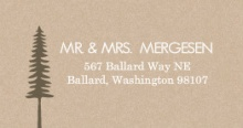Rustic Pine Trees (Set) Wedding Address Label