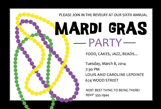 Free Mardi Gras Invitation Templates - Gse.Bookbinder.Co