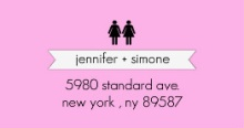 Pink Modern Romance (Set) Address Label