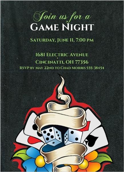 Night invitation template game night invitation template stopboris Choice Image