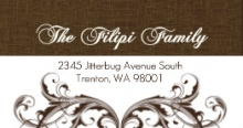 Elegant Textured Brown (Set) Address Label