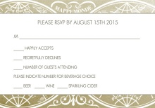 Gold Metallic Antique Style (Set) Wedding Response Card
