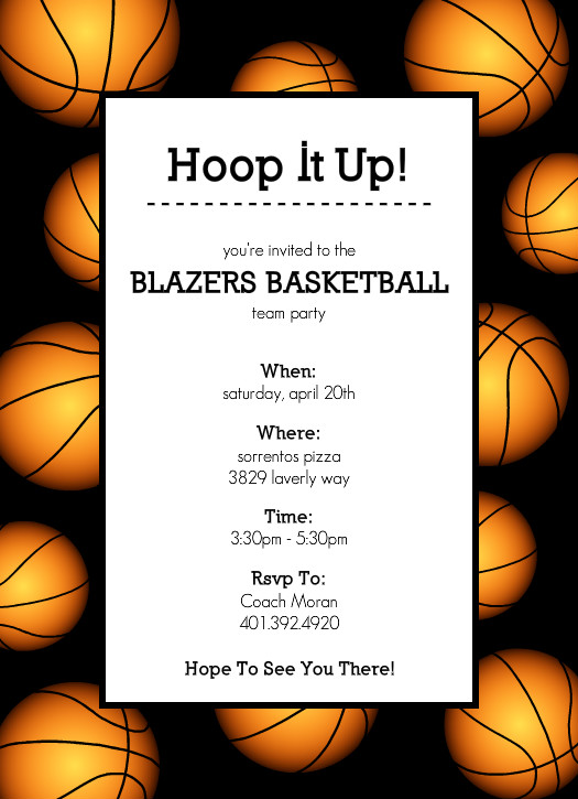 525 x 725 jpeg 98kB, Basketball invitations - Basketball Border ...
