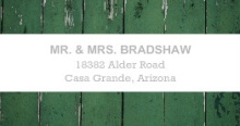 Green Wood Grain Photo (Set) Wedding Address Label