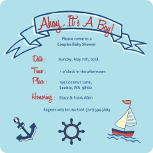 Sailing Boy (Set) Baby Shower Invite