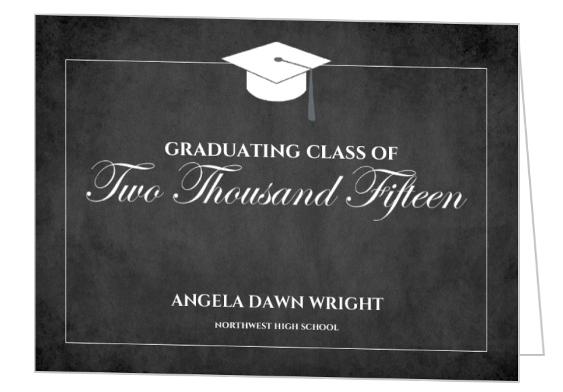 Blackboard Graduation Party Invite