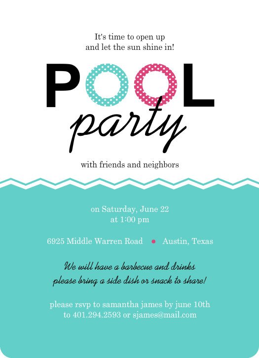 Best Pool Party Invitation Gallery - Office Resume Sample - juilan.com
