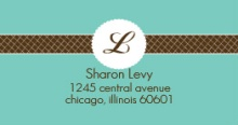 Monogram Address Label