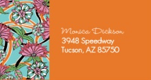 Orange Floral Address Label