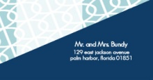 Blue Modern Swirls (Set) Address Label