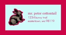 Bunny Address Label