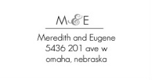 Modern Stripe (Set) Address Labels