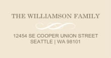 Brown and Cream Modern (Set) Wedding Address Label