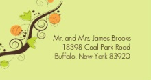 Green Brown and Orange Autumn Themed (Set) Wedding Address Label