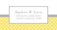 Yellow and Gray Pattern (Set) Address Label