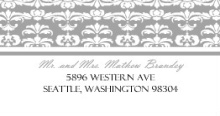 Elegant Gray and White Striped (Set) Address Label