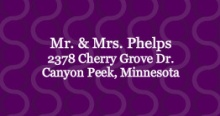Plum and Silver (Set) Wedding Address Label